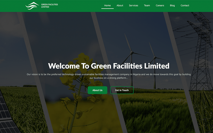 Green Facilities Limited Website