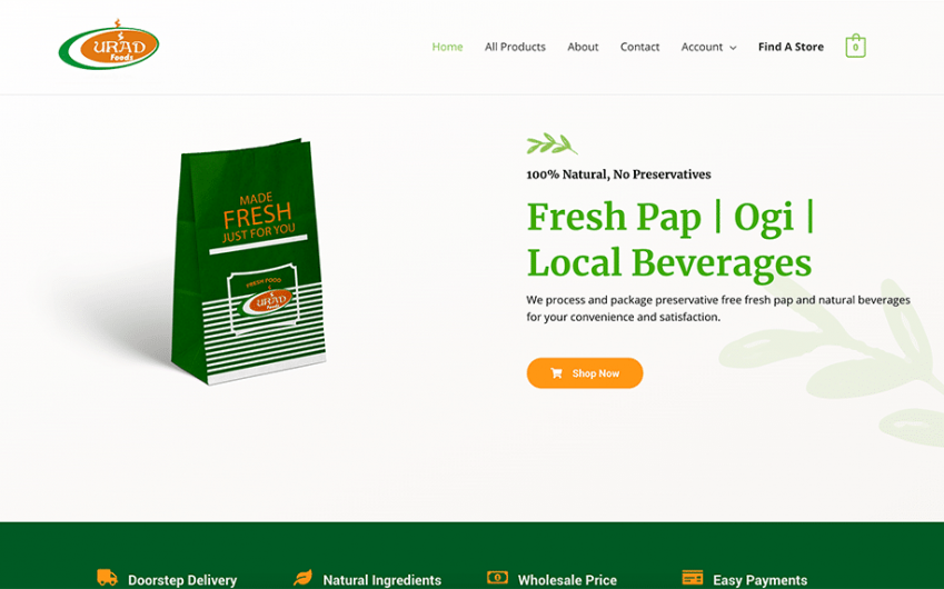 UradFoods Website
